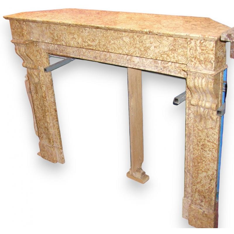 chemin e louis philippe jaune sur moinat sa antiquit s d coration. Black Bedroom Furniture Sets. Home Design Ideas