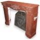 Cheminée Louis XV, griotte rouge.