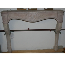 Louis XV fireplace, Burgundy s