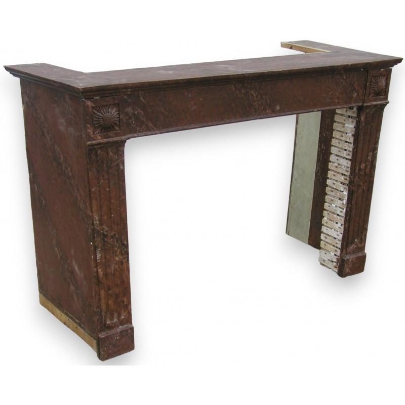 encadrement de chemin e louis xvi sur moinat sa antiquit s d coration. Black Bedroom Furniture Sets. Home Design Ideas