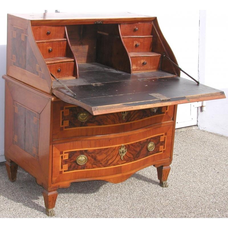 bureau commode louis xvi marquet sur moinat sa antiquit s d coration. Black Bedroom Furniture Sets. Home Design Ideas