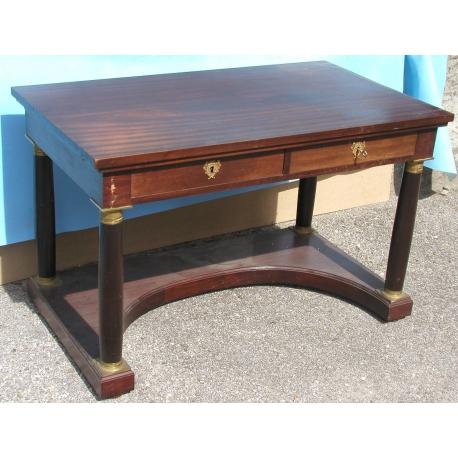 bureau empire avec 2 tiroirs et 2 tirettes sur moinat sa antiquit s d coration. Black Bedroom Furniture Sets. Home Design Ideas