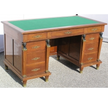 Empire desk with nine drawers