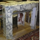 Cheminée Louis XV-Napoléon III en marbre