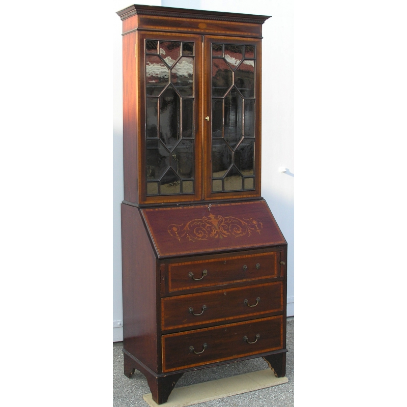 bureau commode biblioth que edwardien sur moinat sa antiquit s d coration. Black Bedroom Furniture Sets. Home Design Ideas