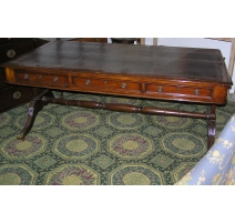 Regency writing table with 3 d