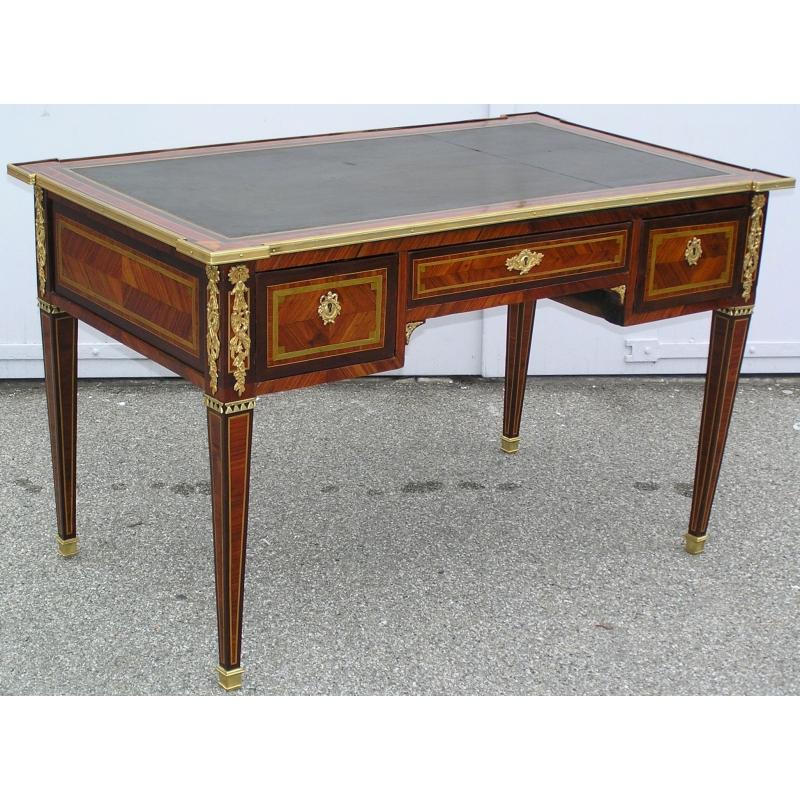 bureau louis xvi 3 tiroirs sur moinat sa antiquit s d coration. Black Bedroom Furniture Sets. Home Design Ideas