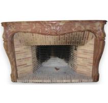 Régence fireplace, Corton red.