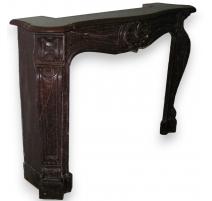 Napoleon III fireplace, red.