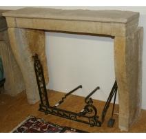 Directoire fireplace, beige.