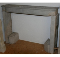 Directoire fireplace, gray.