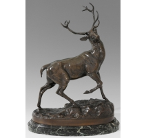 """Bronze """"Cerf"""" de VIDAL."""