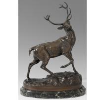 """Bronze """"Deer"""" of VIDAL."""
