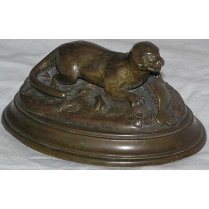 """Bronze """"Otter"""", not signed."""