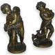 Bronze pair of putti.