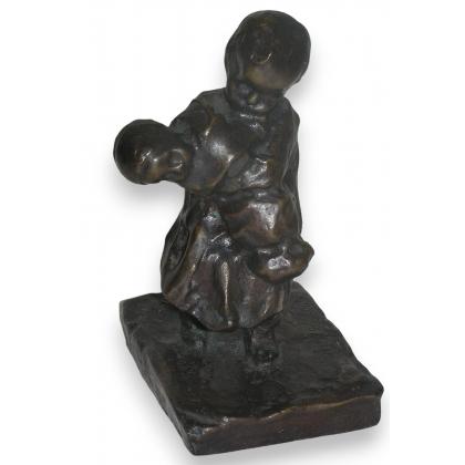"""Bronze """"Le frère"""", signé M. VEDANI"""