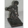 "Bronze ""The brother"", signed M. VEDANI"