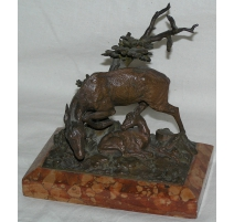 "Bronze ""Doe and fawn""."