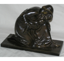 "Bronze ""Woman and child""."