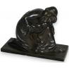 """Bronze """"Femme et enfant""""."""