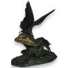 """Bronze """"Aigle et bouquetin""""."""