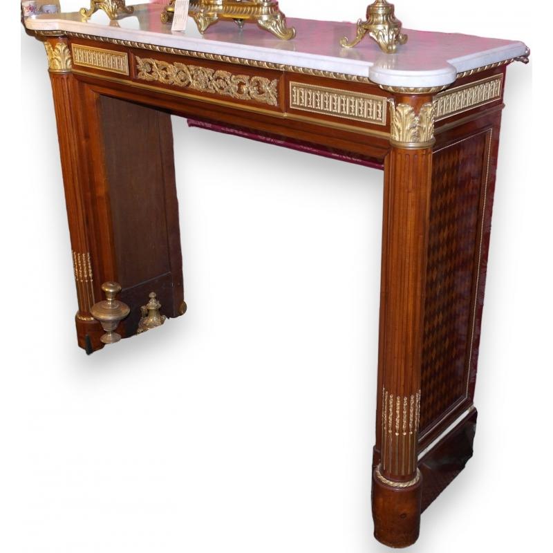 entourage de chemin e ls xvi moinat sa antiquit s d coration. Black Bedroom Furniture Sets. Home Design Ideas
