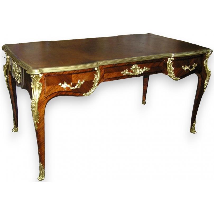 Bureau Plat In Louis Xv Style Moinat Sa Antiquites Decoration