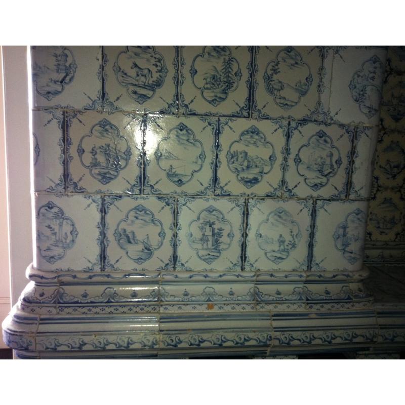 po le bleu blanc sur moinat sa antiquit s d coration. Black Bedroom Furniture Sets. Home Design Ideas