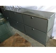 Meuble à tiroirs USM, 6 casiers