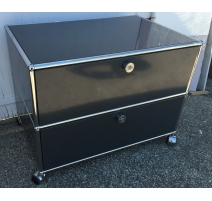 Furniture USM on rouletters, 2 drawers