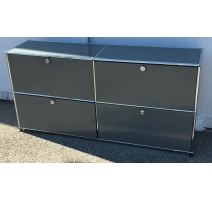 Meuble à tiroirs USM, 4 casiers