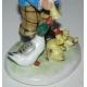 Sculpture  Personnage et canards .