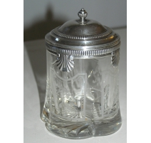 Jam jar with lid.