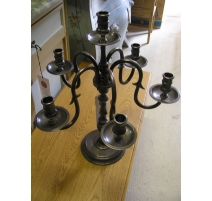 Candlestick with 6 branches bronze silver