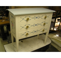 Chest of drawers Directoire painted.