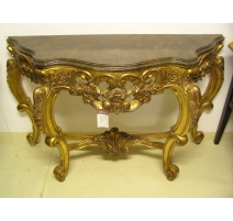 Console style Régence en bois doré et