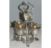 Door-egg cups English silver metal