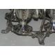 Porte-coquetiers anglais en métal argenté