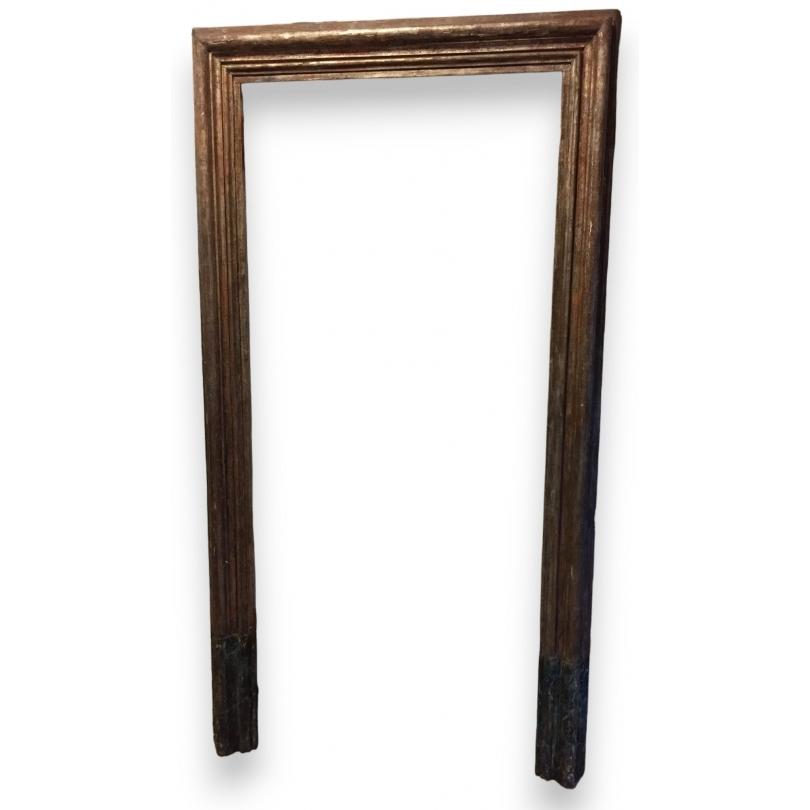cadre de porte en sapin argent et faux marbre sur moinat sa antiquit s d coration. Black Bedroom Furniture Sets. Home Design Ideas
